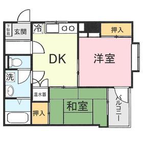 マイシティビルディング4階Fの間取り画像