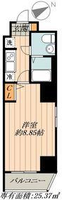 FUSION日本橋箱崎2階Fの間取り画像