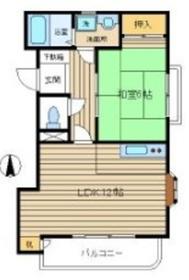 タカラハイツ百草4階Fの間取り画像