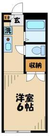レオパレスコンフォート唐木田1階Fの間取り画像