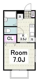 追浜駅 徒歩7分1階Fの間取り画像