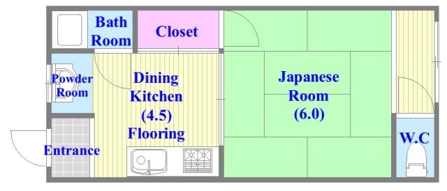 長栄寺第5コープ シンプルな住み心地を実感できる素敵な間取りになってます。