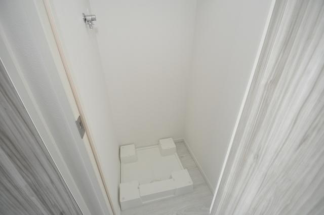 パラゴン布施駅前 嬉しい室内洗濯機置場。これで洗濯機も長持ちしますね。