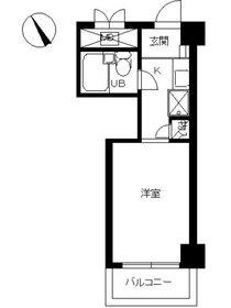 スカイコート横浜山手2階Fの間取り画像
