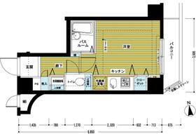 トーシンフェニックス沼袋5階Fの間取り画像