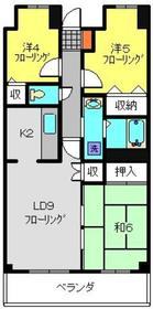 プランジュール神大寺3階Fの間取り画像