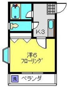 新川崎駅 徒歩24分2階Fの間取り画像