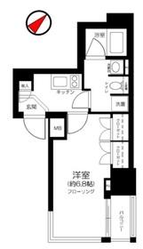 オープンレジデンシア銀座二丁目4階Fの間取り画像