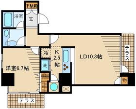 LANAI15211階Fの間取り画像