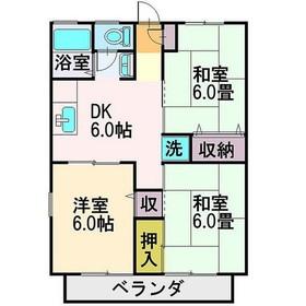 ボナールコート1階Fの間取り画像