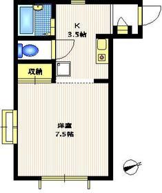 マロニエ2階Fの間取り画像