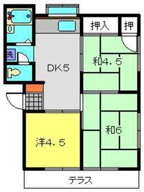 ハイツマルカ1階Fの間取り画像