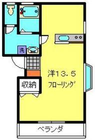 グリーンハイム日吉2階Fの間取り画像