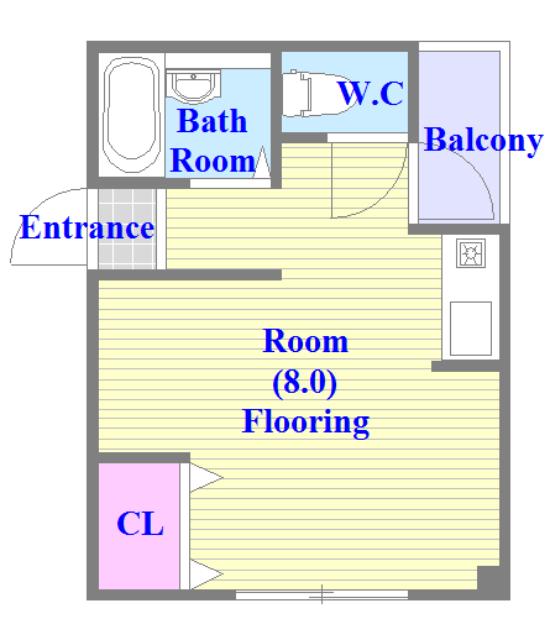 セパレートの広々したお部屋となってます。