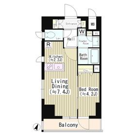 イレーネ初台11階Fの間取り画像