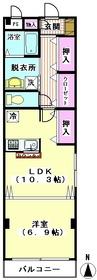 カレル萩中 201号室