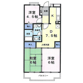 キキョウ第五・三上マンション3階Fの間取り画像