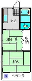 片倉町駅 徒歩16分2階Fの間取り画像