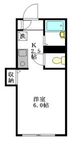 ハウスサトウ1階Fの間取り画像