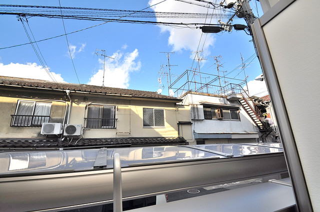 フジパレス高井田西Ⅱ番館 この見晴らしが日当たりのイイお部屋を作ってます。