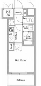 ハーモニーレジデンス川崎#00214階Fの間取り画像