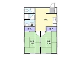 斉藤アパート2階Fの間取り画像