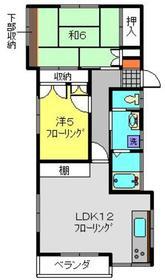 小久江コーポ2階Fの間取り画像