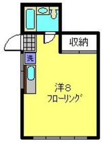 メゾンドパール1階Fの間取り画像