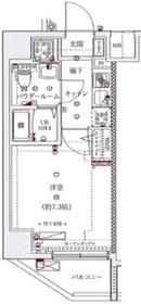 スパシエソリデ横浜鶴見5階Fの間取り画像