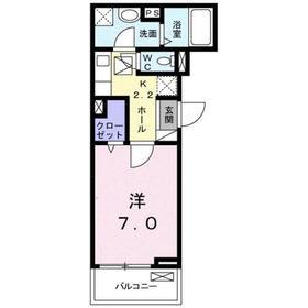 さがみ野駅 徒歩8分1階Fの間取り画像