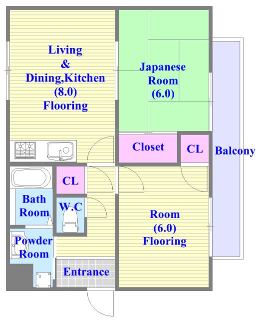 フォワイエ 各部屋が余裕のある広さで、とてもゆったりとした間取りです。