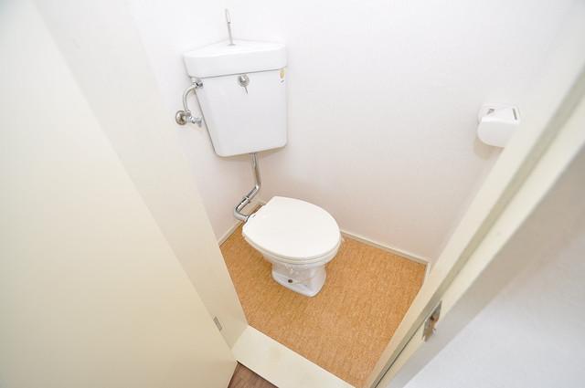 グリーンハイツ竜田 清潔感のある爽やかなトイレ。誰もがリラックスできる空間です。
