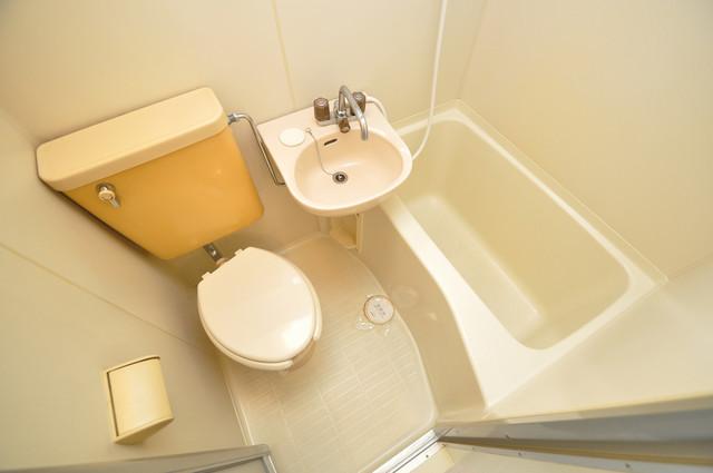 サンパレス布施 コンパクトながら機能的なトイレです。