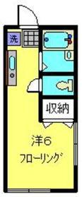 サザンウインズ横濱1階Fの間取り画像