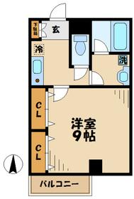 新屋ビル2階Fの間取り画像