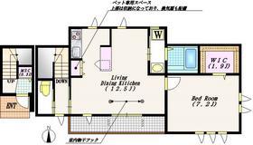 ライムハウス2階Fの間取り画像