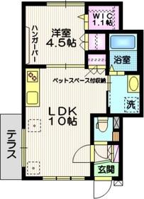(仮称)東大井3丁目プロジェクト(ペット共生)1階Fの間取り画像