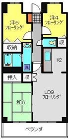 プランジュール神大寺5階Fの間取り画像