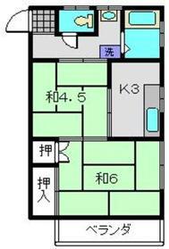 坂アパート2階Fの間取り画像