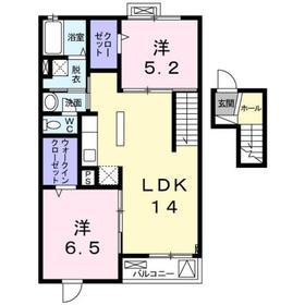 レジーナⅠ4階Fの間取り画像
