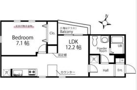 ハーミットクラブハウストゥギャザー和田町3階Fの間取り画像