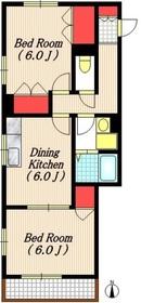 パリセード・メサ2階Fの間取り画像