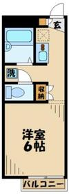 レオパレスK・M・JOY2階Fの間取り画像