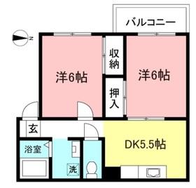 海老名駅 バス10分「下浜田」徒歩5分2階Fの間取り画像
