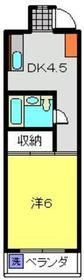 日吉グリンヒルハイム4階Fの間取り画像