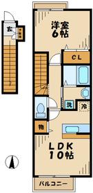 ルボア1・22階Fの間取り画像