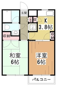 メゾンドクローネ3階Fの間取り画像
