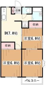 モンシャトー鈴木2階Fの間取り画像