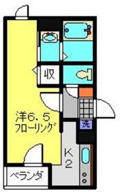 フローラ日吉1階Fの間取り画像