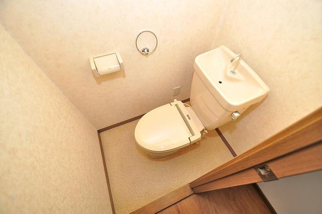 大宝長田ル・グラン 清潔感のある爽やかなトイレ。誰もがリラックスできる空間です。